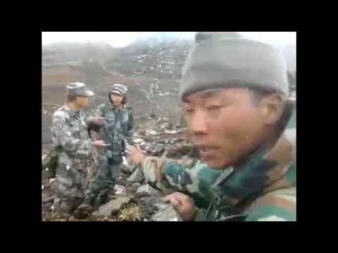 indian army vs china's army face to face border video 2017