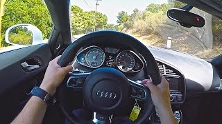 Awesome Audi R8 POV Drive and Incredible Exhaust Sound!