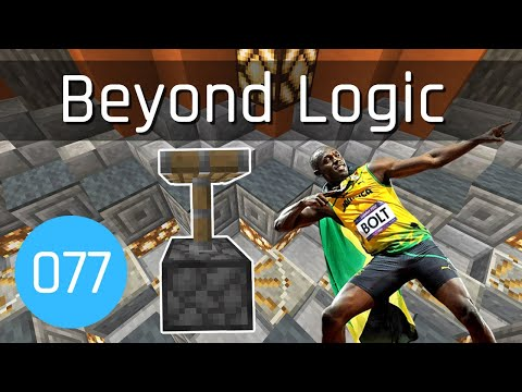 Beyond Logic #77: Usain Piston Bolt | Minecraft 1.13
