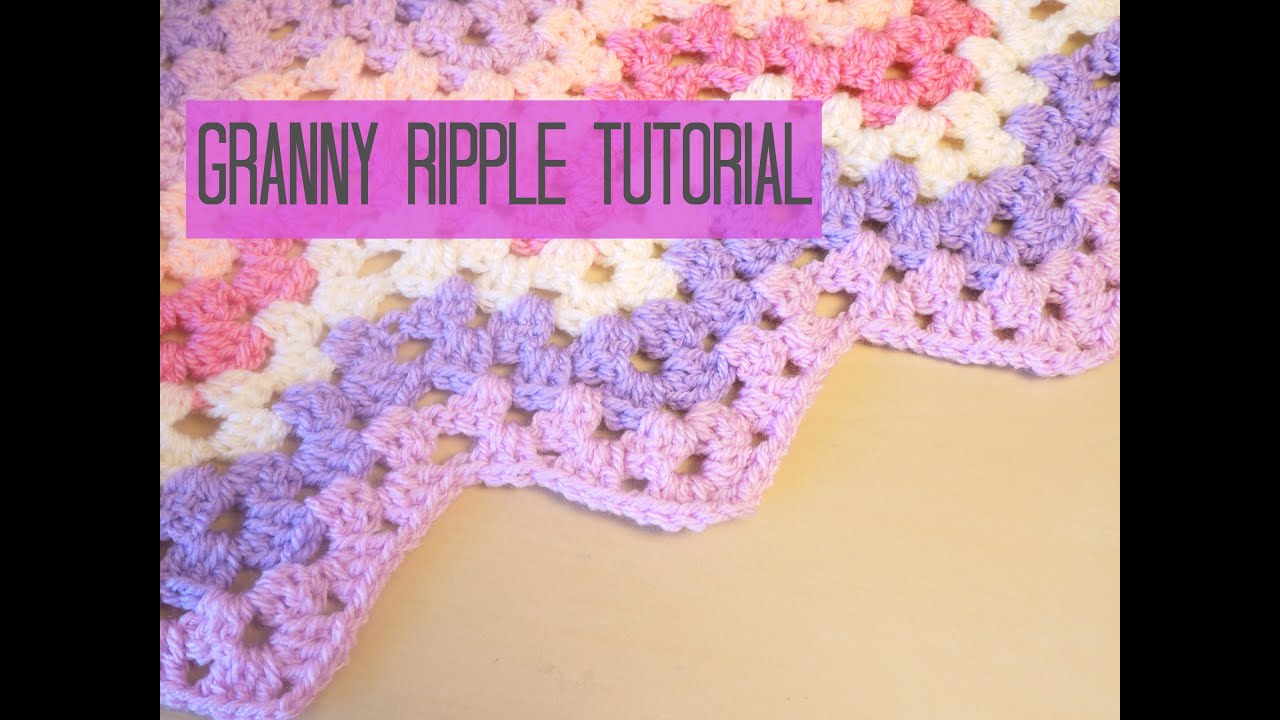 Crochet Chevron Granny Ripple Tutorial Bella Coco Youtube