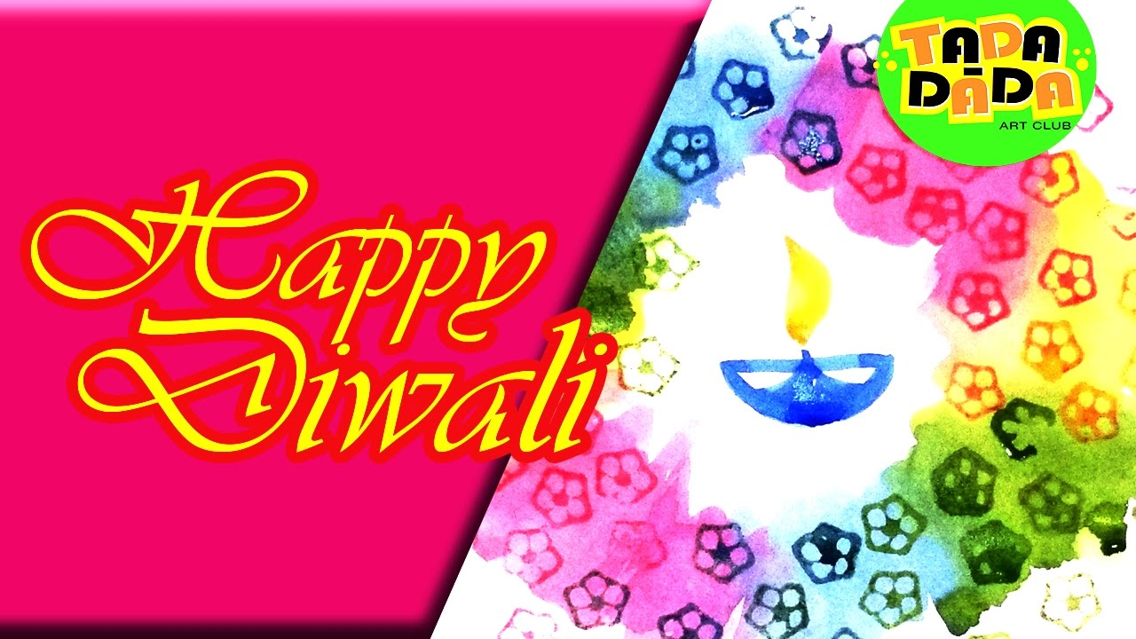 Happy diwali l how to make an easy diwali card diwali greeting youtube premium m4hsunfo
