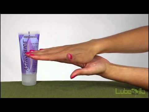 Astroglide Sensitive Skin Gel Personal Lubricant Demonstration