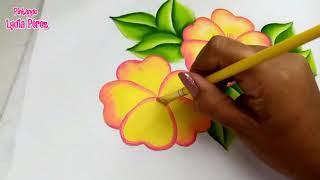 Pintura en tela como pintar flores amarillas fáciles