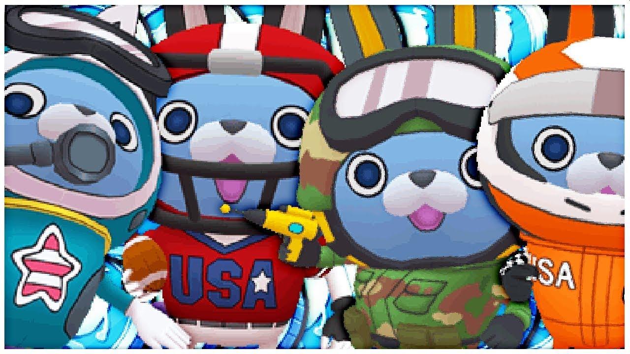 Alle Usapyon Kostüme Bekommen Spezialmünzen 5 Sterne Münzen Yo Kai Watch Blasters