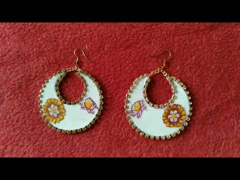 How to make paper Earrings | Paper Earring | Handmade jewellery