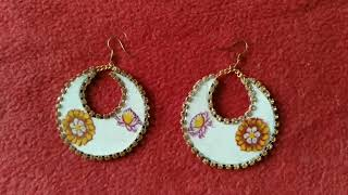 How to make paper Earrings | Paper Earring | Handmade Jewellry
