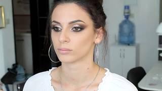 Видеоурок по макияжу, кошачий глаз, техника вечернего макияжа, как сделать красивый вечерний макияж