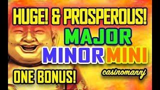 🤑 HUGE! & PROSPEROUS!🤑 🎅 MAJOR - MINOR - MINI JACKPOT WIN - ONE BONUS! 🎅- Slot Machine Bonus