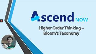 Parent Series - Higher Order Thinking - Bloom's Taxonomy