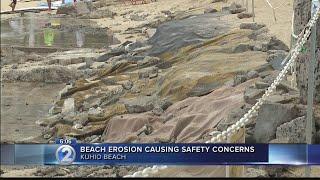Severe erosion sparks safety concerns, unusual prevention measures along Waikiki beach