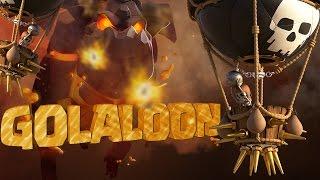 GOLALOON ESTÁ DE VOLTA! ATAQUE FORTISSIMO GOLALOON CV9 FULL 3 ESTRELAS GUERRA CLASH OF CLANS