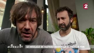 Le message au Palmashow de Mathieu Madénian & Thomas VDB