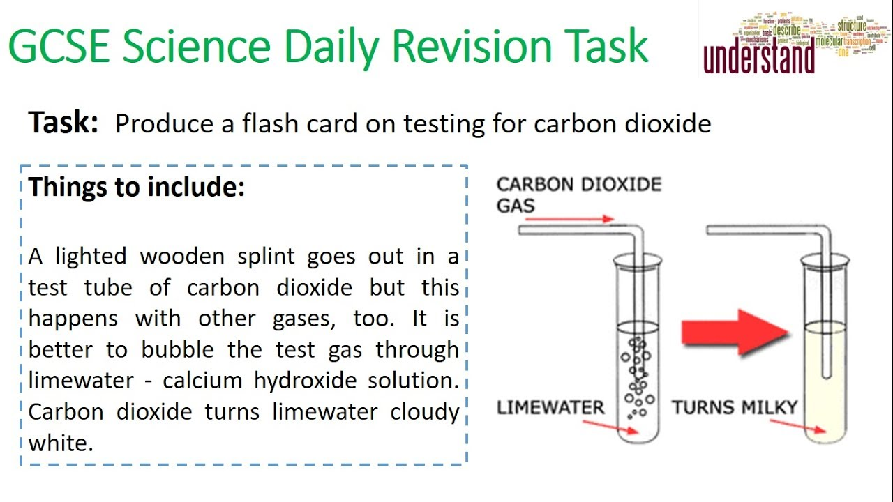GCSE Science Daily Revision Task 52:  Testing for Carbon Dioxide - YouTube