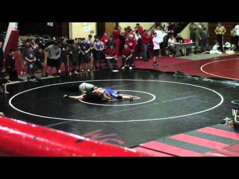 MCHS Wrestling - Wayne County Duals - Chris vs Wayne