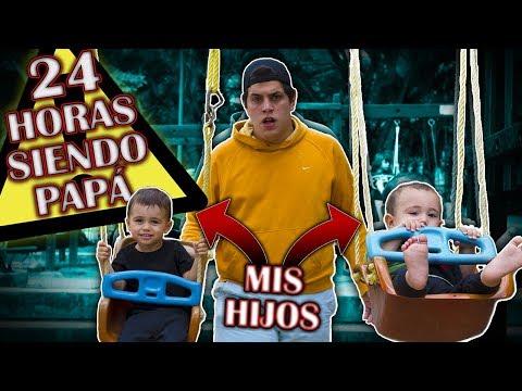 24 HORAS SIENDO PAPÁ de DOS NIÑOS (SALE MAL) | El Portu