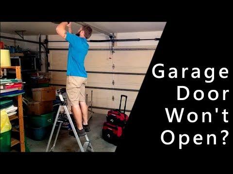 Fix Garage Door Makes Noise But Won T Open Youtube