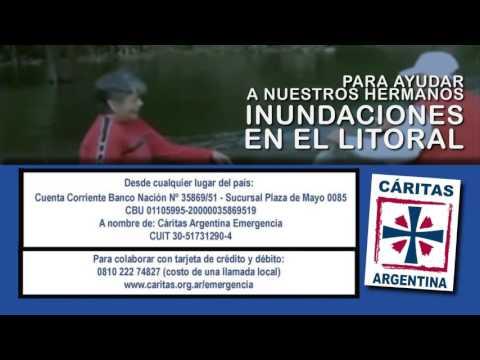 Cáritas lanzó una campaña para ayudar a los inundados en El Litoral