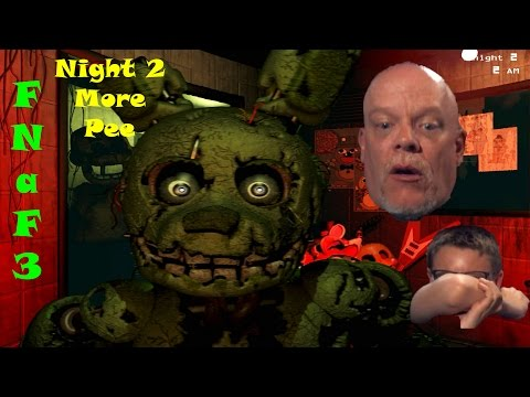FNaF3 Night 2 Continues And We Lose Control of Bodily Functions Again