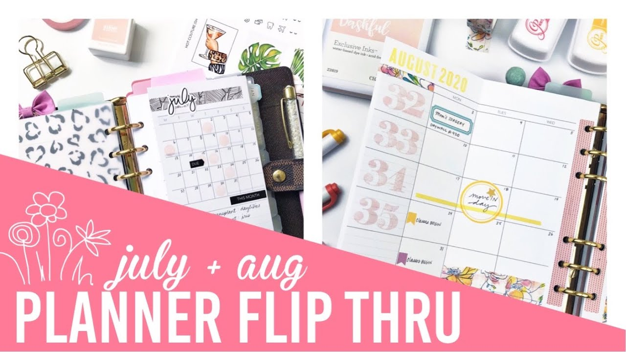 personal size | planner flip through | JULY + AUG 2020