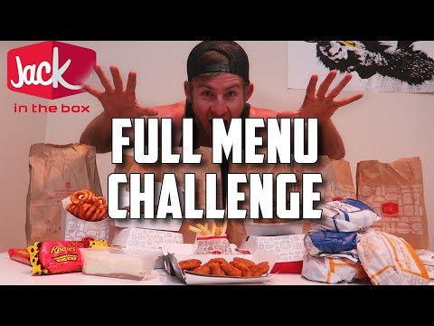 """""""SUPERCHARGED"""" JACK IN THE BOX MENU CHALLENGE!"""