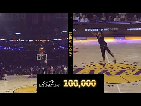 Brother Wease - WATCH: Los Angeles Lakers Fan Wins $100,000 After Hitting Half-Court Shot