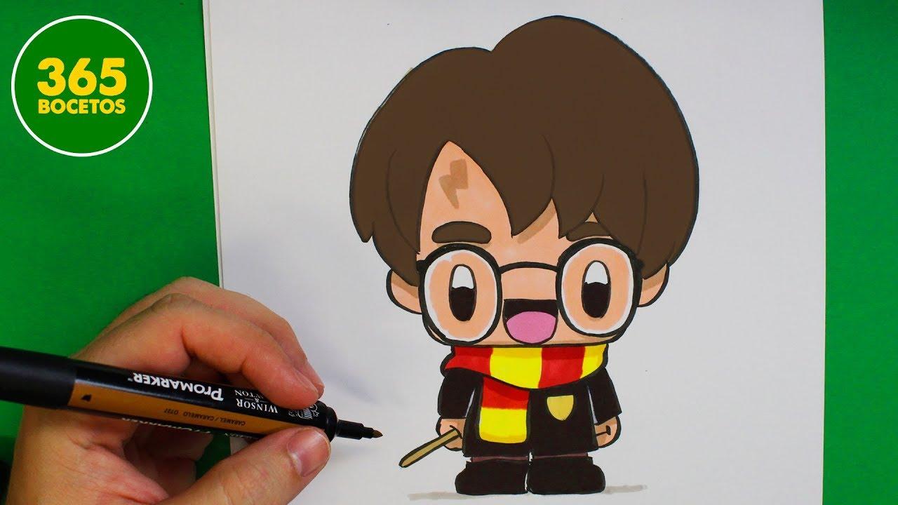 Como Dibujar A Harry Potter Kawaii Dibujo Faciles