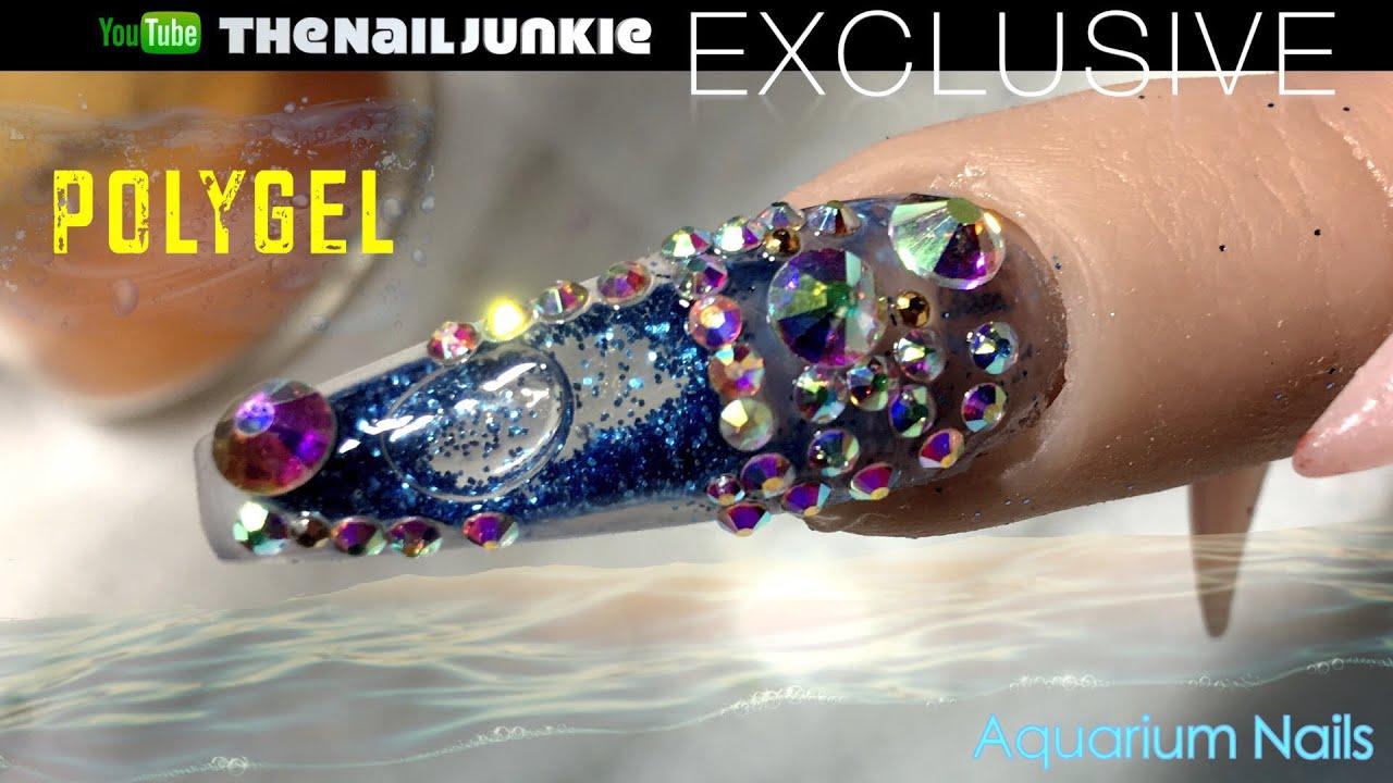 aquarium nail polygel nails