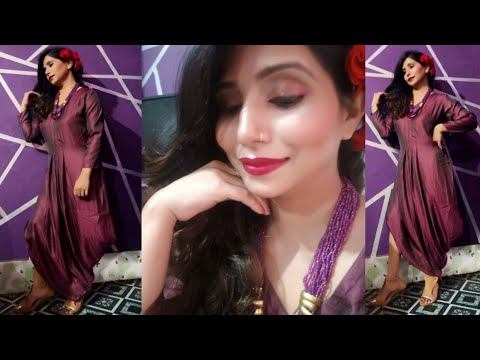 Easy Party Makeup Tutorial /// Contour and Highlight ( WESTERN DRESS ) lifestyle Nagma thumbnail