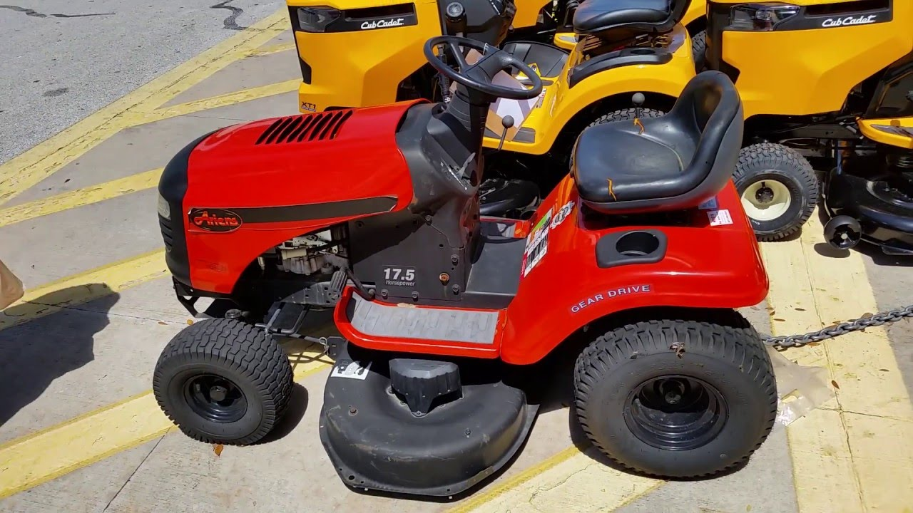 Home Depot Garden Tractors : A brand new year old ariens tractor for sale at home