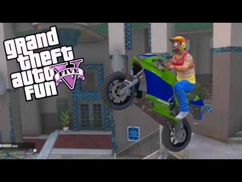 GTA 5 Fun - Moo vs Delirious, Stunt Montage, Hiding Spot (Spare Parts Edition)
