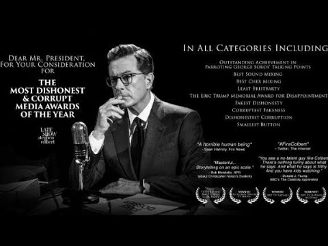 Colbert sets out to win Trump 'media awards'