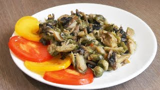 Brussels Sprouts With Mushrooms In Orange Sauce - Vegetarian Recipe