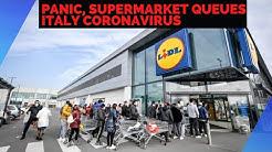 Panic, supermarket queues as Italy coronavirus cases top 100