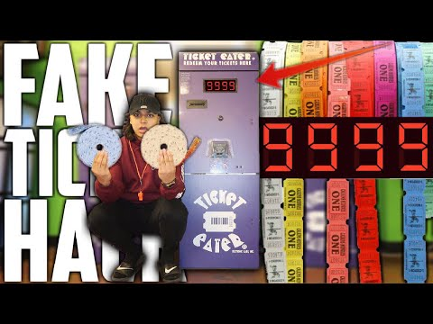 USING FAKE TICKETS AT THE ARCADE | TURN 1 FAKE ARCADE TICKET INTO 100000 ARCADE TICKETS! (UNLIMITED)