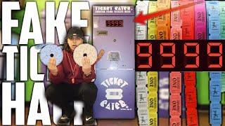 USING FAKE TICKETS AT THE ARCADE | TURN 1 FAKE ARCADE TICKET INTO 100000 ARCADE TICKETS! (UNLIMITED)