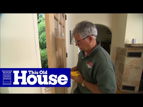 How To Hang A New Front Door In An Existing Frame This