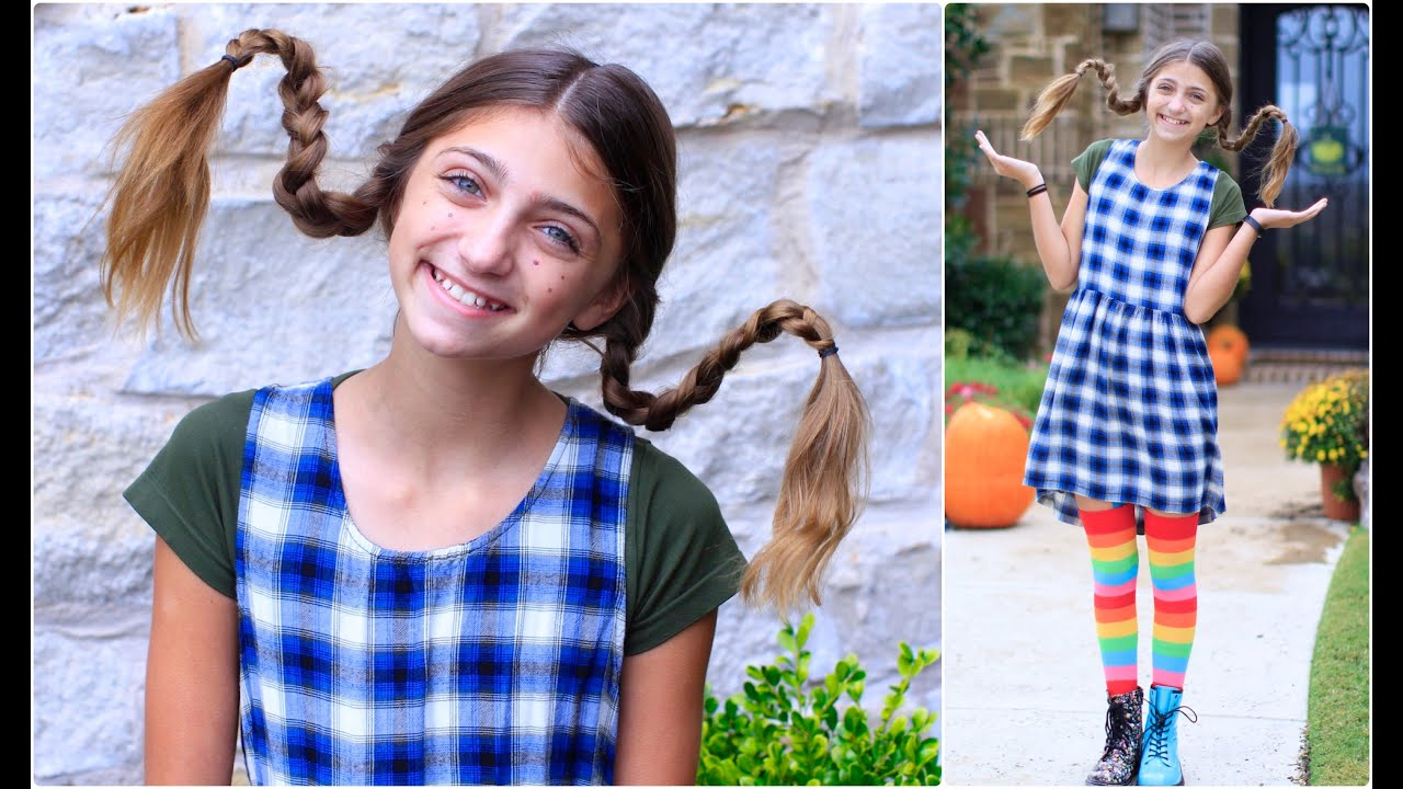 Dad Teaches How To Create Pippi Longstocking Braids Youtube