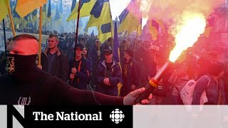 Thousands in Ukraine march against peace deal with Russia