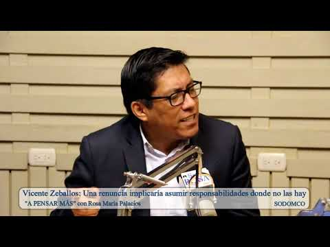 Vicente Zeballos: Una renuncia implicaría asumir responsabilidades donde no las hay