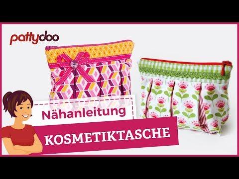 Anleitung Kosmetiktasche mit Reißverschluß nähen - auch für Anfänger ...