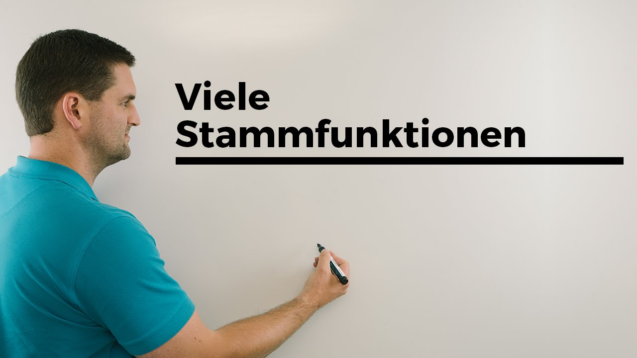 Stammfunktionen, warum plus C? Integration, Mathematik | Mathe by Daniel Jung
