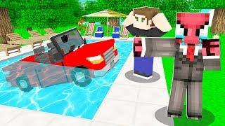 FAKİR'in ARABASI HAVUZA DÜŞTÜ! 😱 - Minecraft