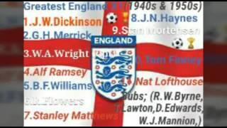 Greatest England Football X1; (1940s & '50s).