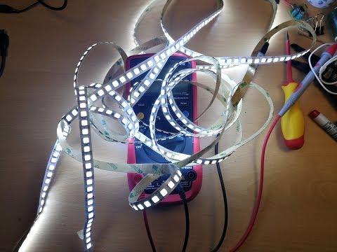 Как определить мощность светодиодной ленты мультиметром