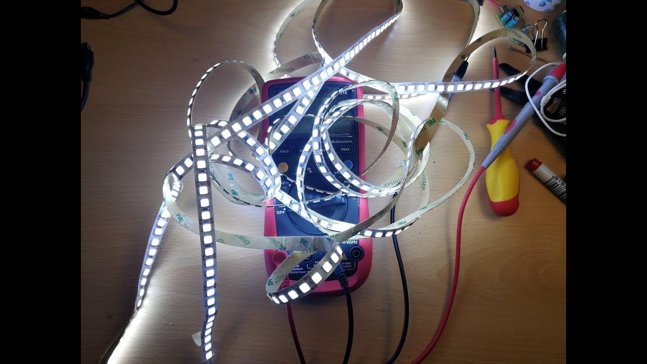 Подключение и расчет мощности светодиодной ленты