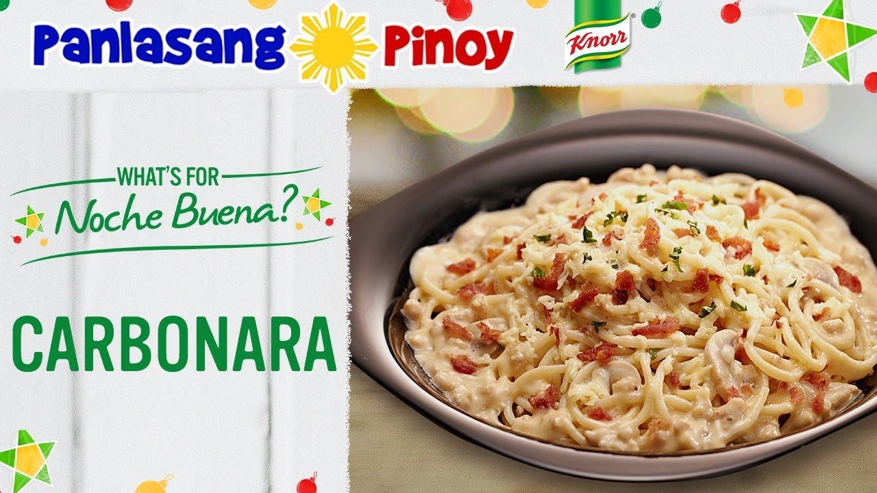 Carbonara Recipe Filipino Style Panlasang Pinoy Youtube
