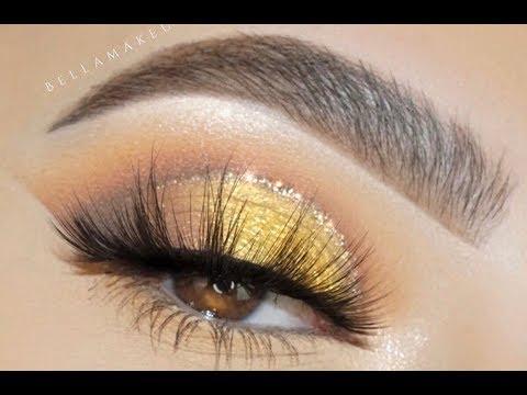 Classic Gold Glitter Eye Makeup Tutorial thumbnail