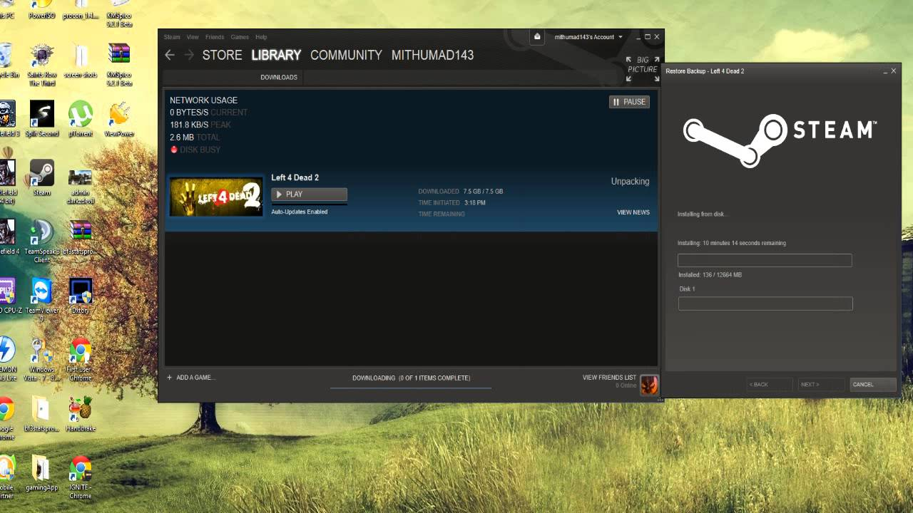 How To Restore Games In Steam Youtube