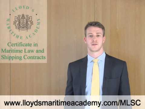 Maritime Law and Shipping Contracts distance learning training course