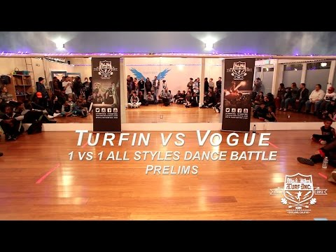 TURFIN vs VOGUE | 1v1 All Styles Tournament PRELIMS | TURFinc at FLYING STUDIOS DANCE BATTLE